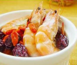 鹿茸枸杞酒虾