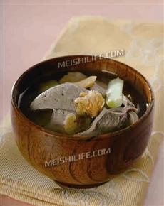 白芨羊肝汤