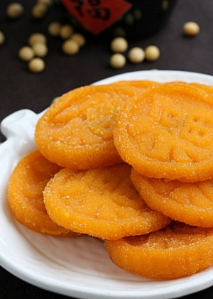 香煎杏仁南瓜饼