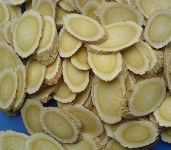黄芪切片的图片
